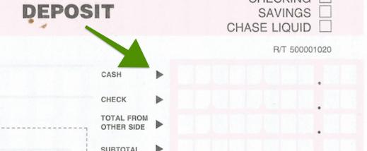 deposit form chase  Chase Deposit Slip - Free Printable Template - CheckDeposit.io