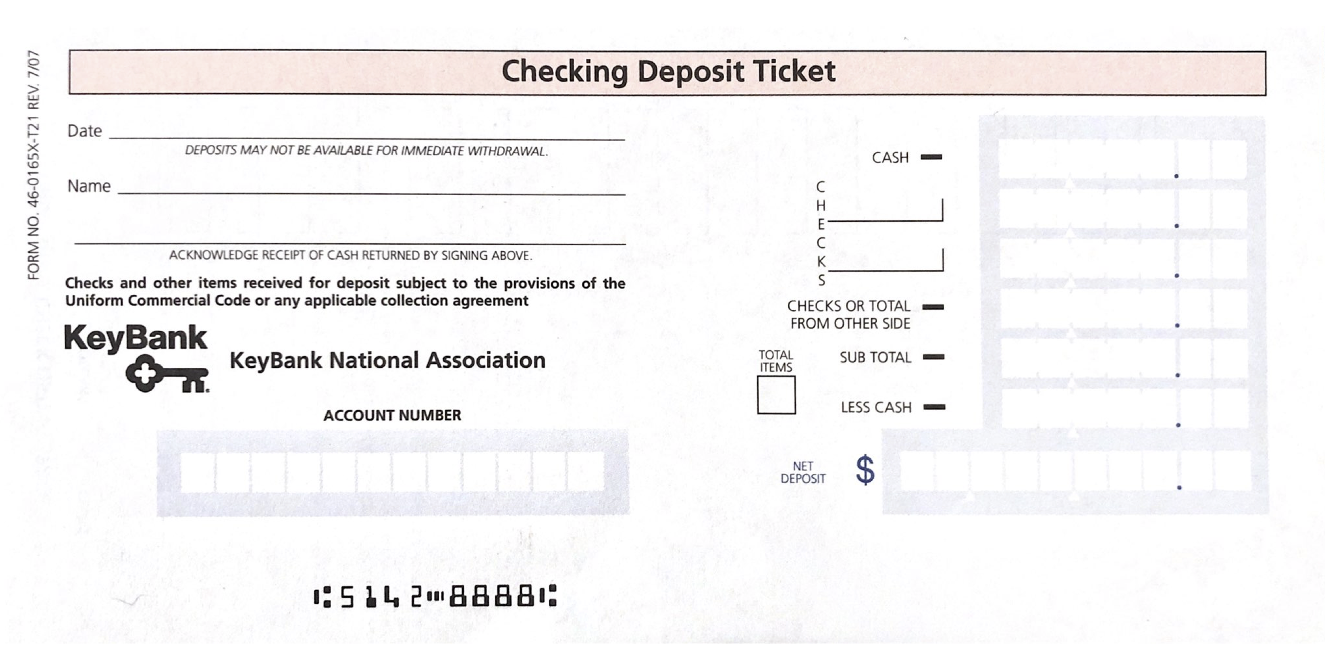 It's just a graphic of Bank Deposit Slips Printable with regard to free blank